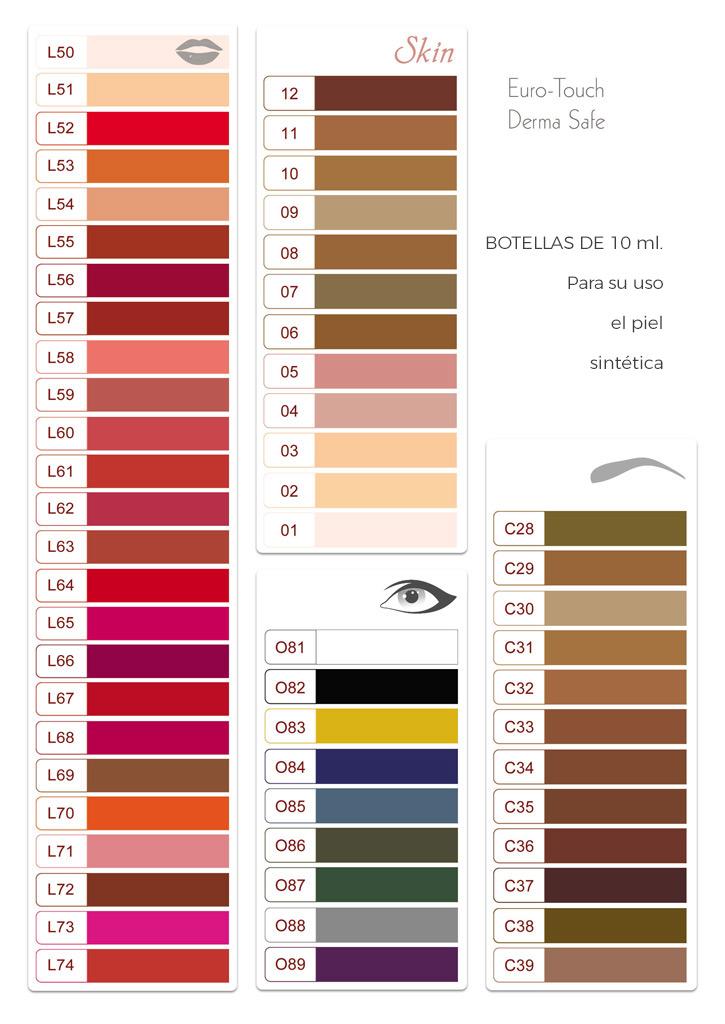 Pigmentos micropigmentación